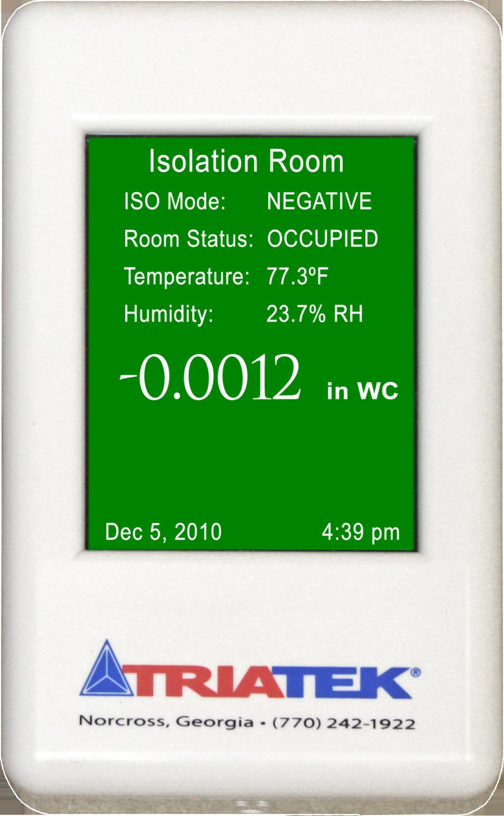 Fms 1650 Room Pressure Controller Triatek