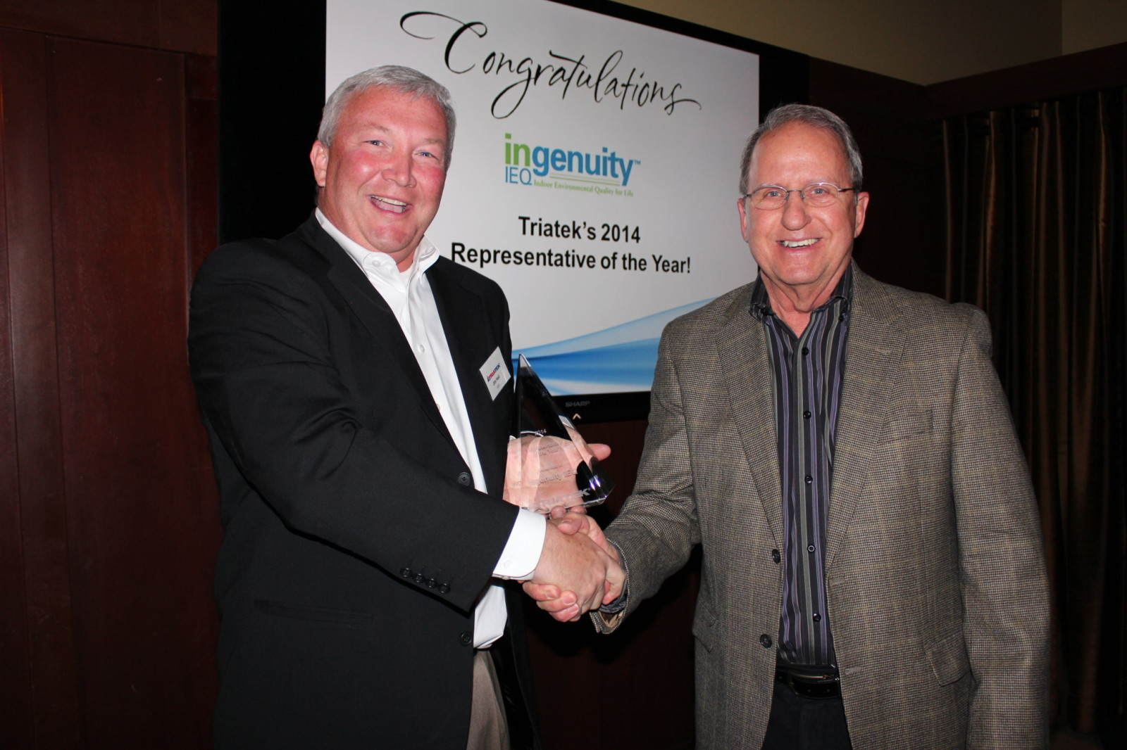 Jim Hall and Mike Fox from Ingenuity IEQ