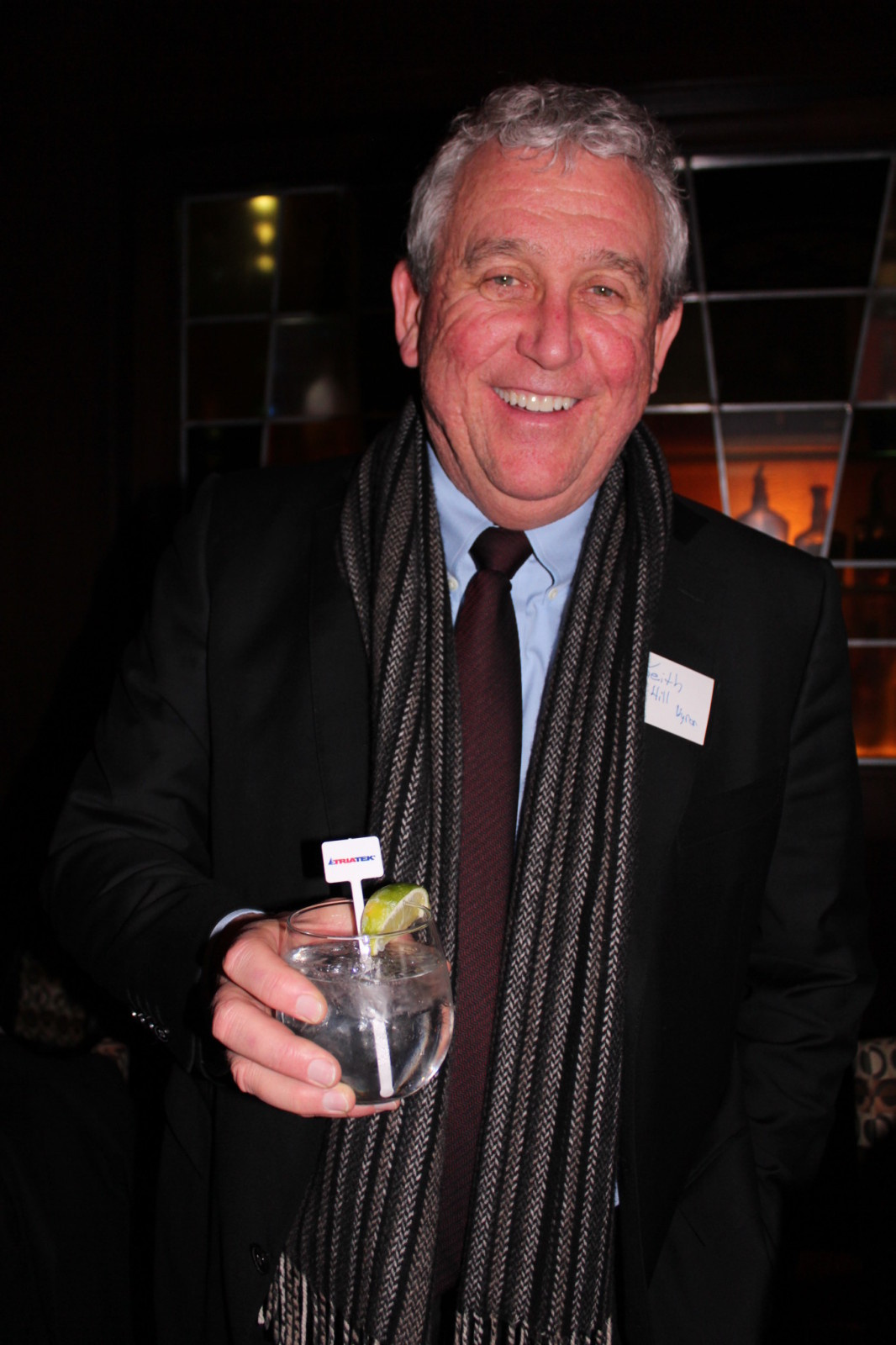Keith Hill with Signature Cocktail