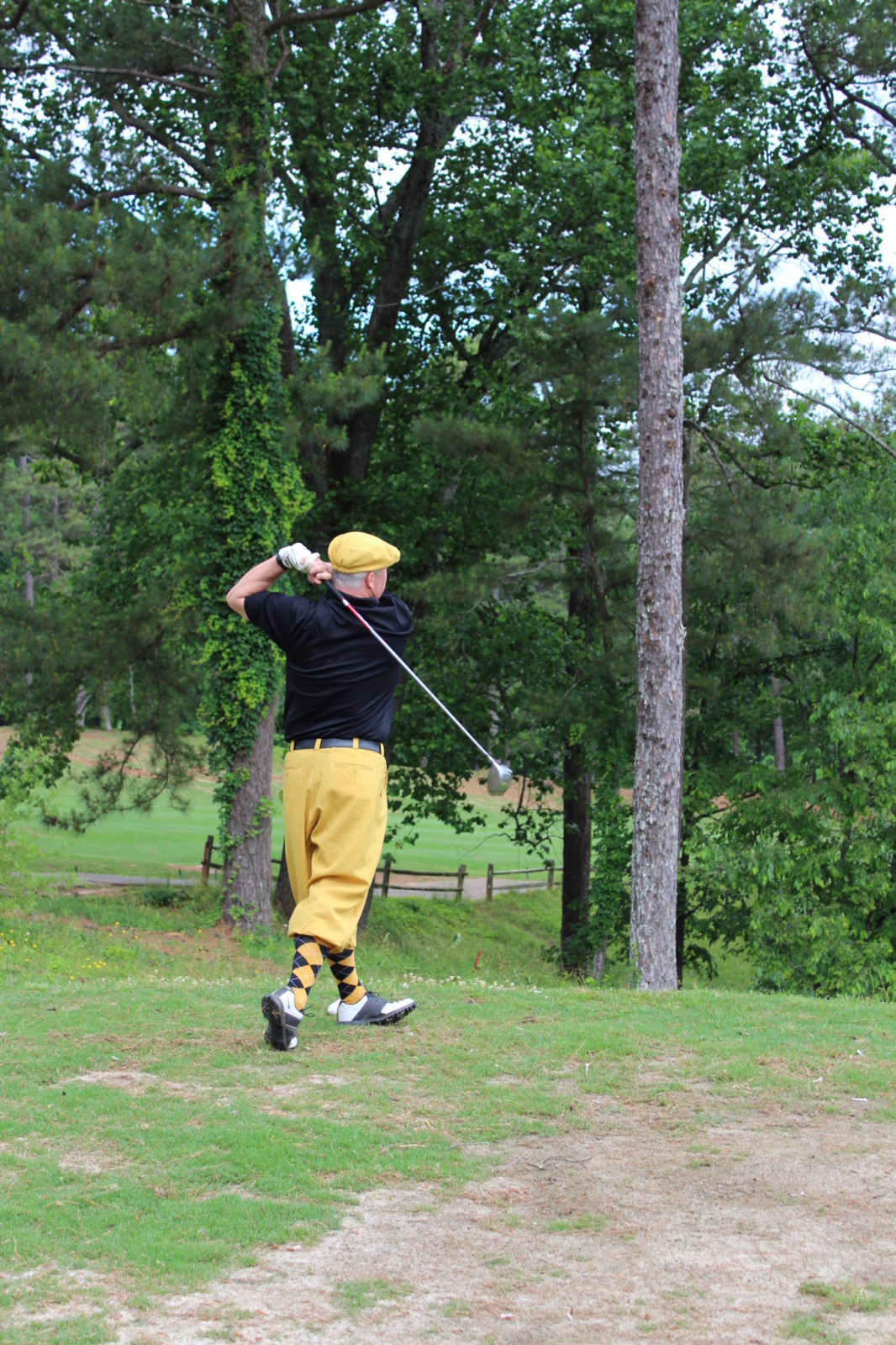 Jim Hall teeing off