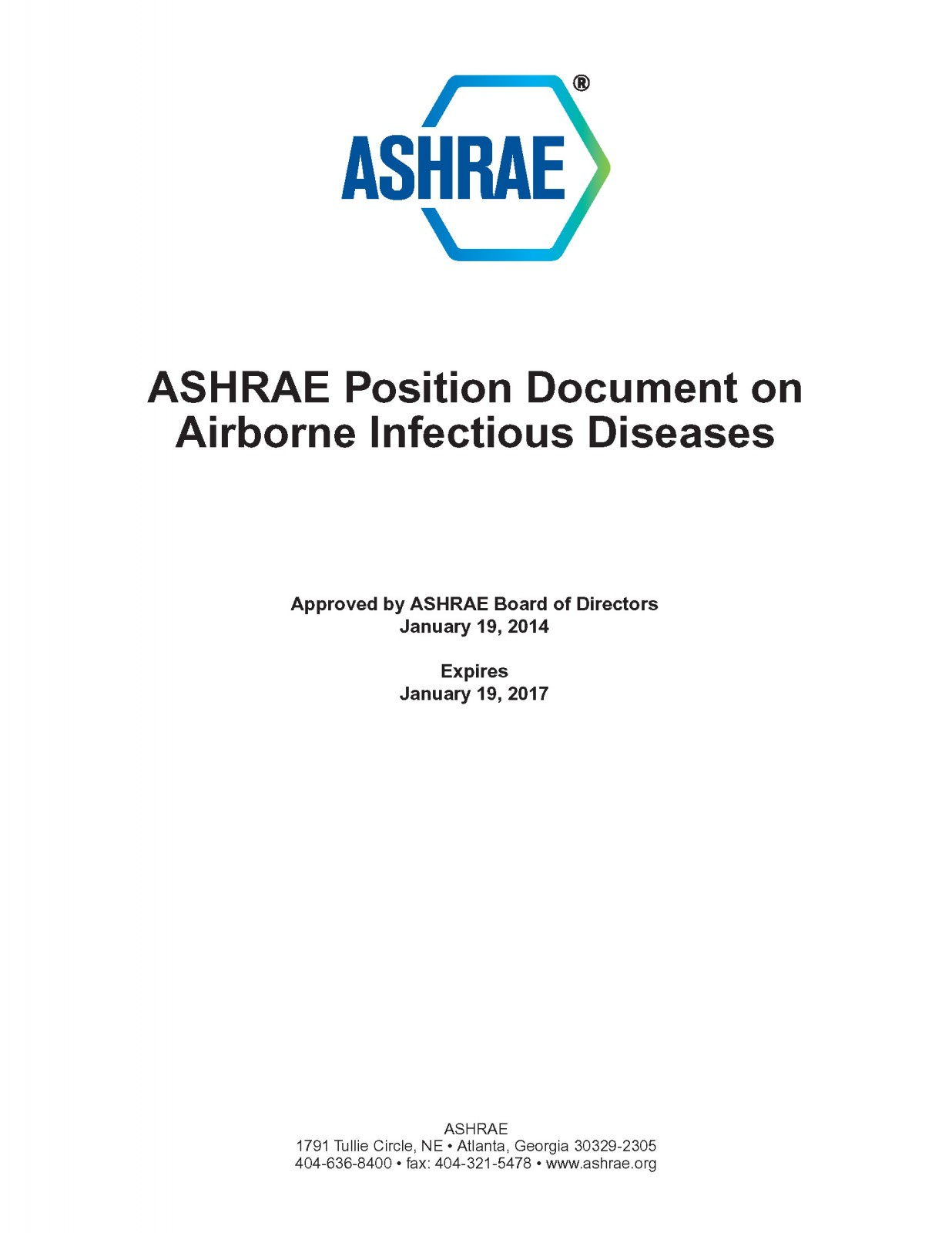 ASHRAE Position Paper