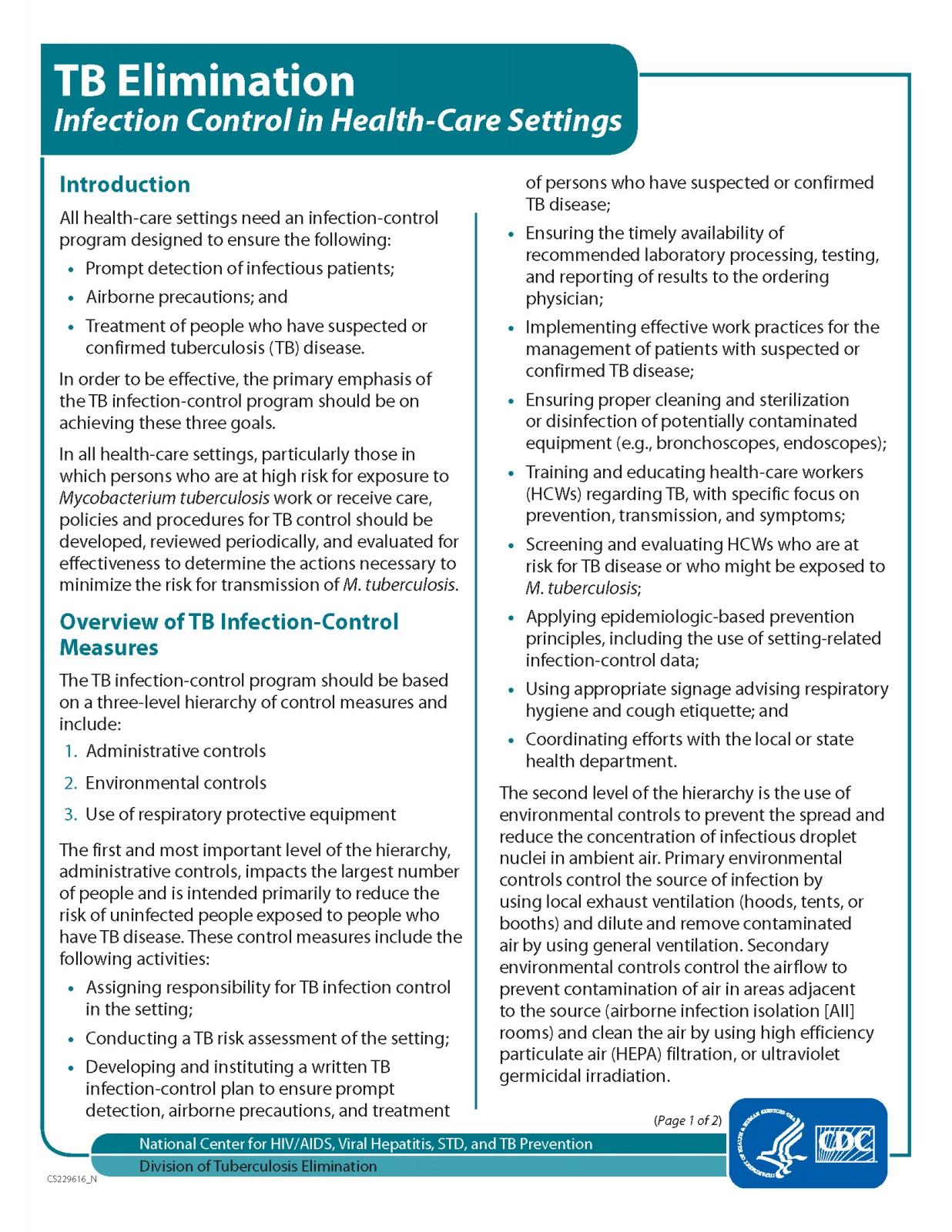 TB Elimination CDC