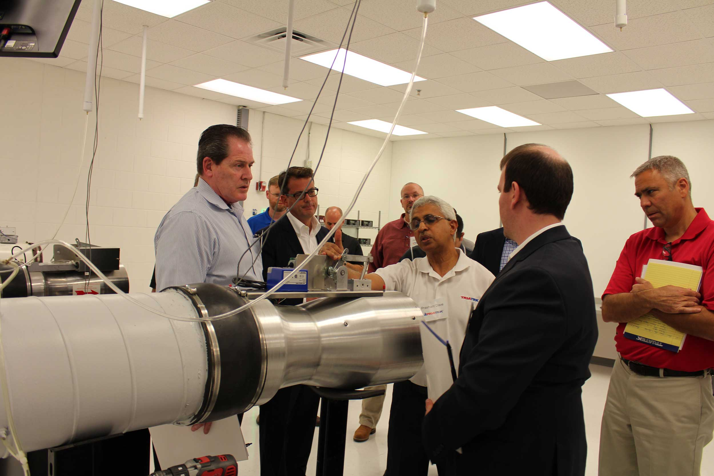 Prashant Dave gives a tour of Triatek's Calibration Room